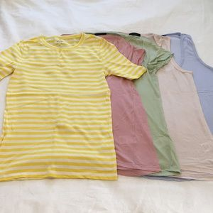 Lot of 5 J Crew tops